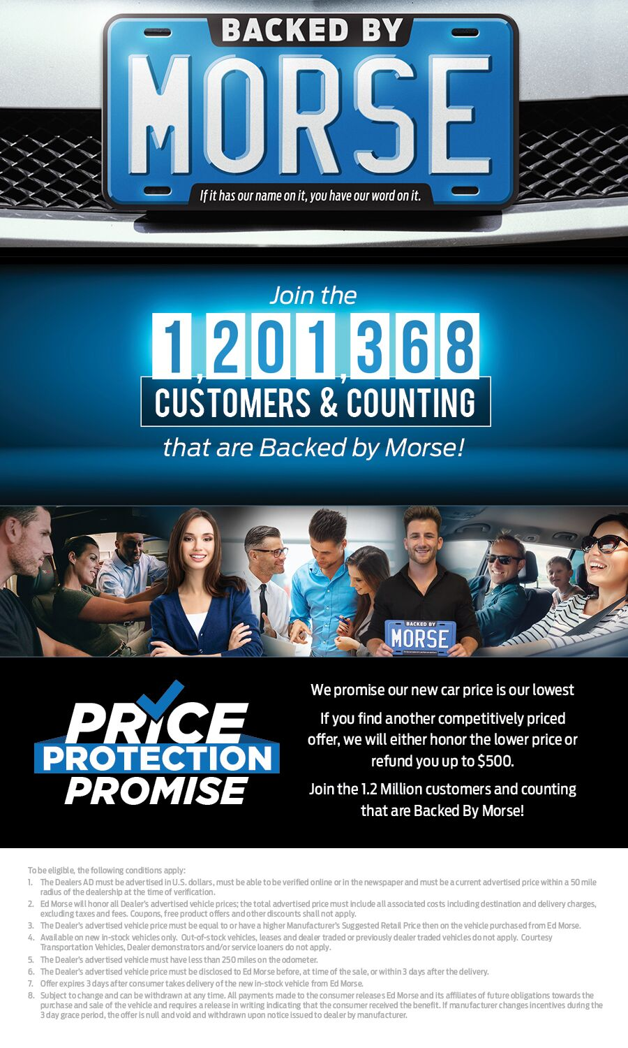 Ed Morse Customers and Counting Price Protection Promise