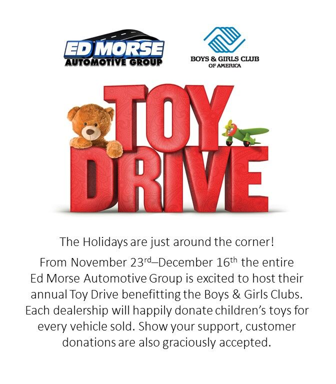 Ed Morse Toy Drive Graphic