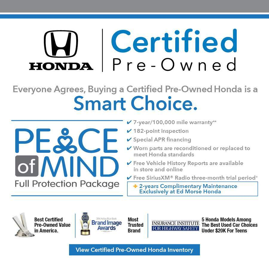 Buying A Honda Certified Pre Owned Vehicle Is A Smart Choice. Only  Well Maintained Honda Vehicles That Are Under Six Years Old And Have Fewer  Than 80,000 ...
