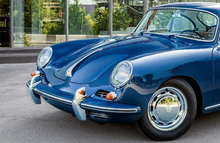 classic Porsche 356 in blue