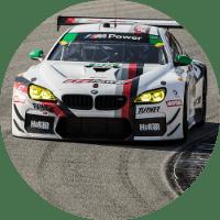 BMW motorsports race car on a track