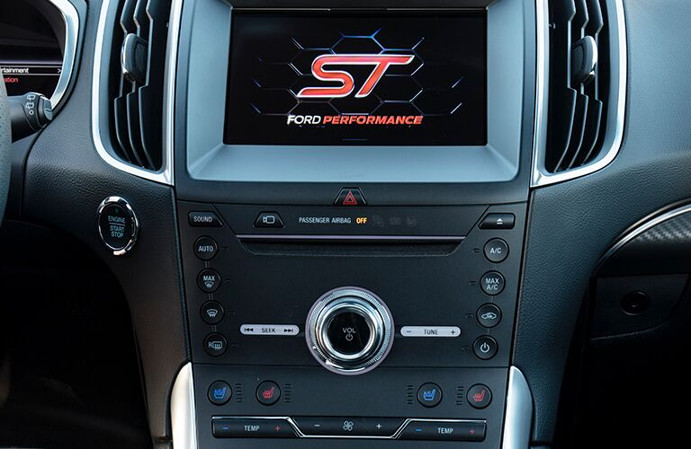2019 ford edge infotainment system detail