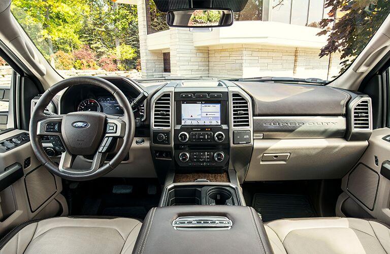 2019 ford f-350 super duty dashboard detail