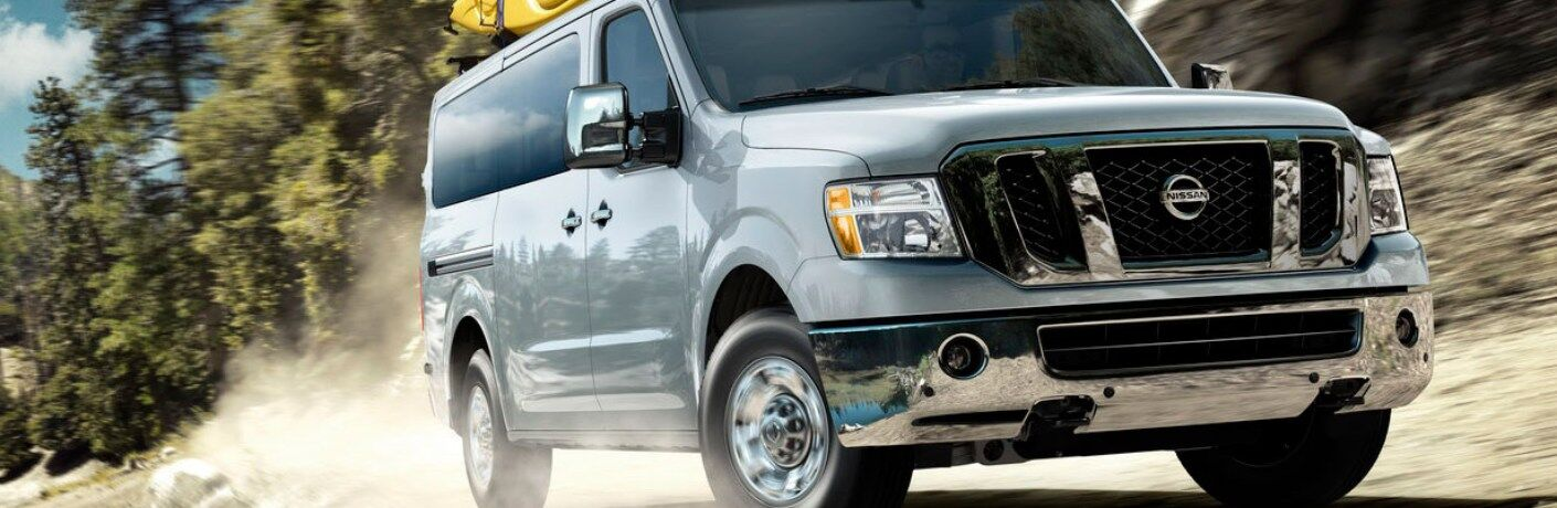 2014 Nissan NV cruising down the road