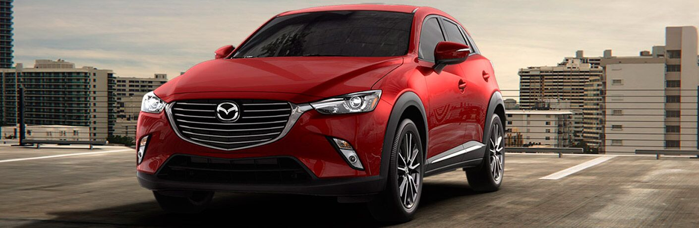 2017 Mazda CX-3 front fascia, headlights, and grille