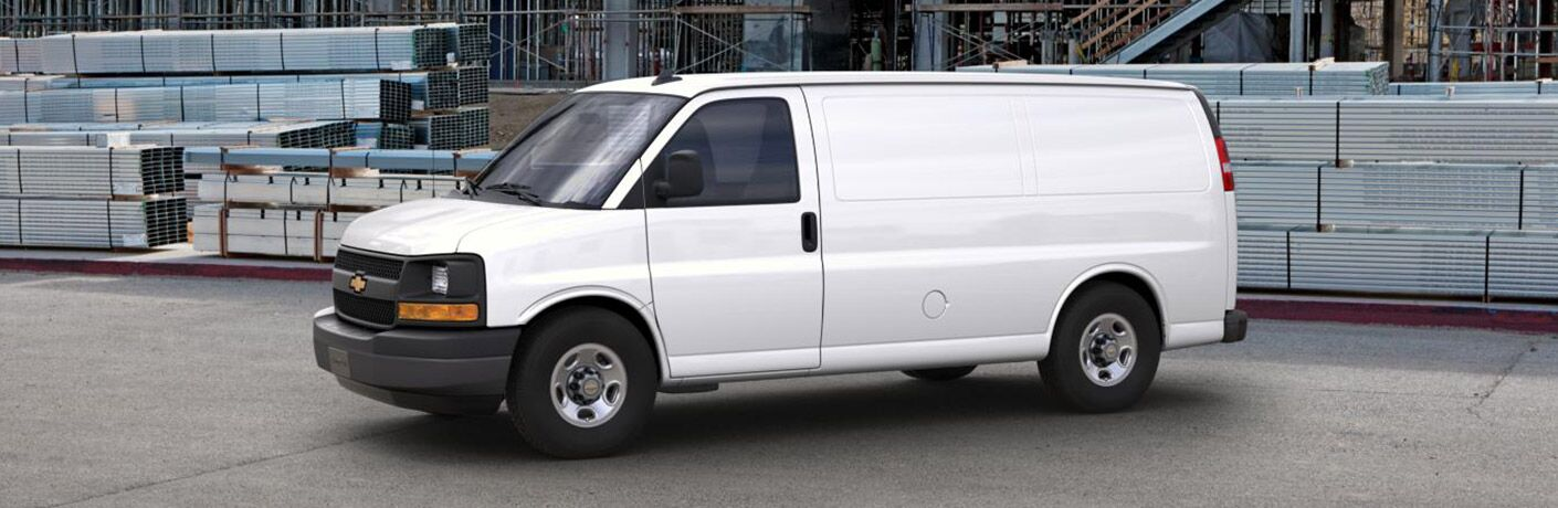 2017 Chevy Express cargo van side profile_o