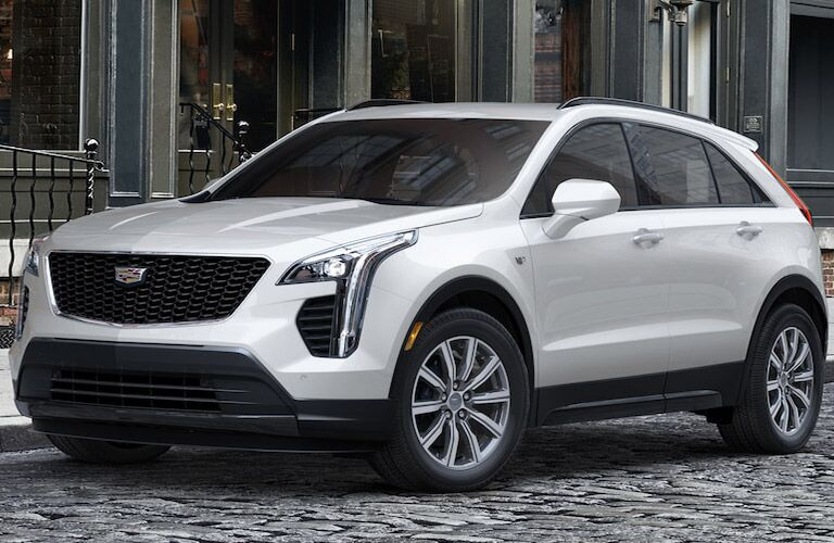 2019 Cadillac XT4 parked on brick road