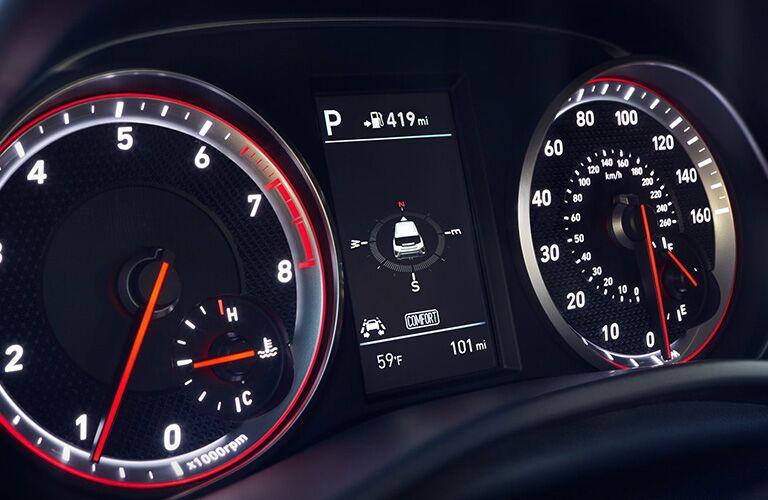 Instrument panel of 2019 Hyundai Veloster