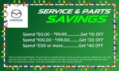 Earnhardt Mazda Wildcard Service Savings Coupon