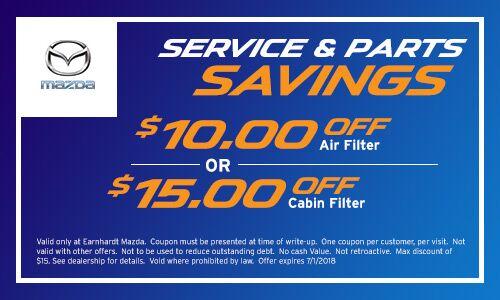 Cabin Filter and Air Filter Coupon