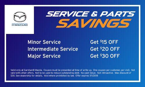 Minor, Intermediate, and Major Service Savings