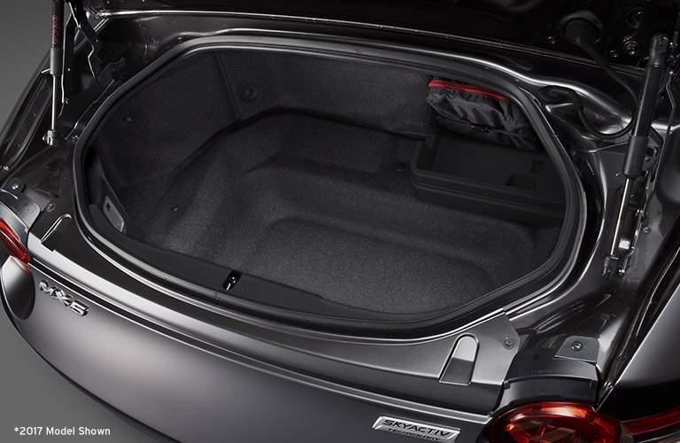 2017 Mazda MX-5 Miata Rear Cargo Space with White *2017 Model Shown Disclaimer