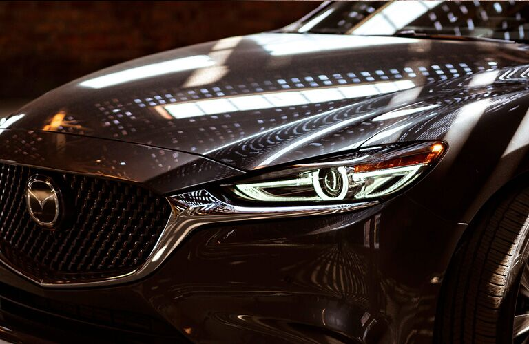 Close Up of 2020 Mazda6 Grille and Headlights