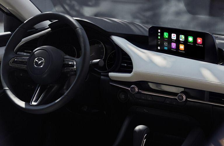 2020 Mazda3 Sedan Steering Wheel and Dashboard