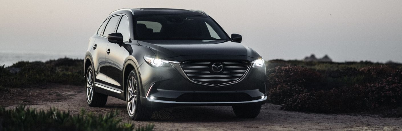 Gray 2020 Mazda CX-9 on Dirt Trail