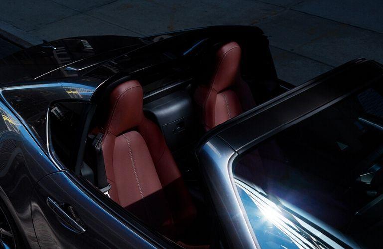 Overhead View of 2020 Mazda MX-5 Miata RF Interior