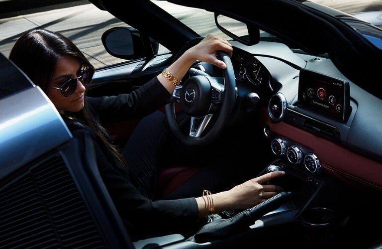 Woman Driving 2020 Mazda MX-5 Miata RF