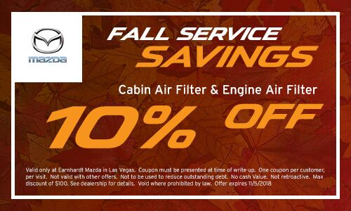 Save On A Cabin Filter U0026 Air Filter At Earnhardt Mazda In Las Vegas
