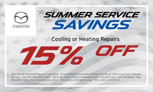 Cooling or Heating repair savings at Earnhardt Mazda in Las Vegas