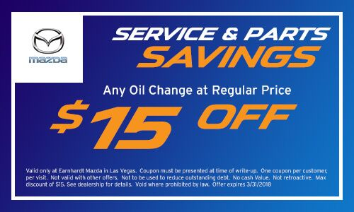 Earnhardt Mazda Las Vegas Oil Change Coupon