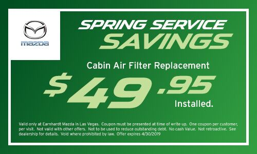 Save on a Cabin Filter at Earnhardt Mazda in Las Vegas