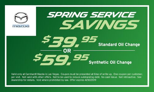 Oil Change & Tire Rotation Savings at Earnhardt Mazda in Las Vegas