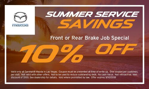 Save 10% on a Front or Rear Brake Job at Earnhardt Mazda in Las Vegas