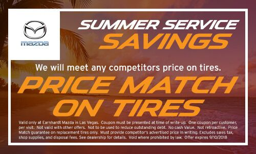 Price Match on Tires at Earnhardt Mazda in Las Vegas