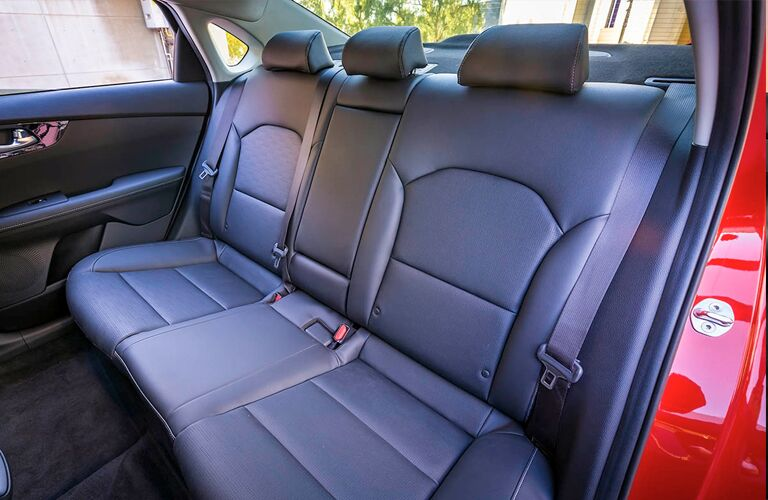 2019 Kia Forte interior shot of back seating space and upholstery