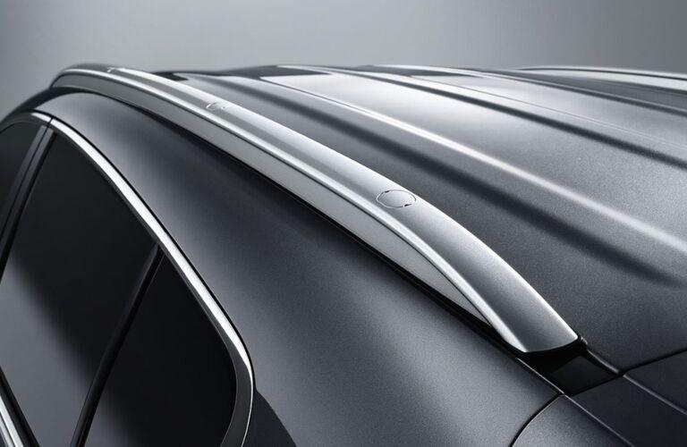 Kia roof rails on a black vehicle