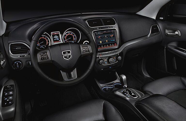 2018 Dodge Journey interior dash and steering wheel