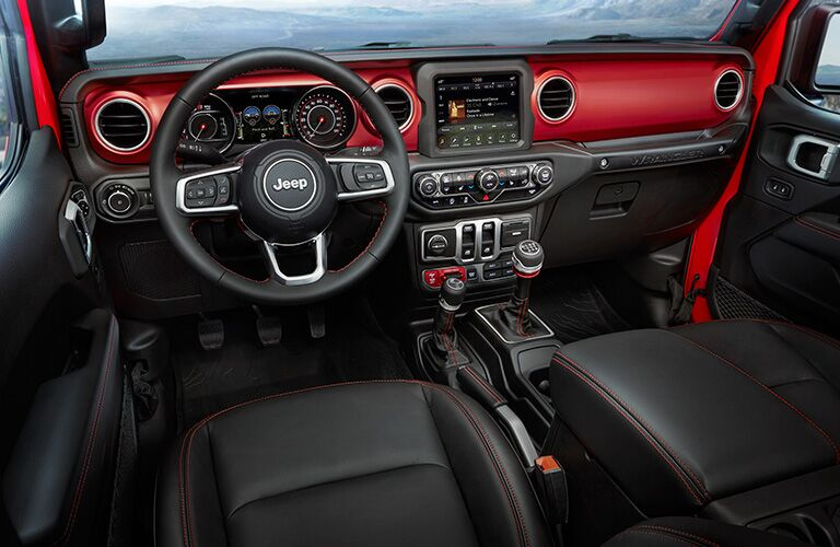 2018 Jeep Wrangler interior front seats and dash