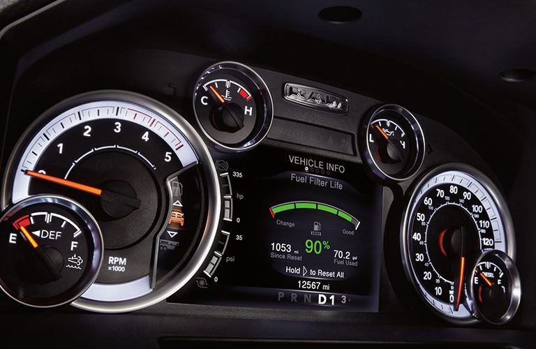 2018 Ram 2500 dashboard gauges