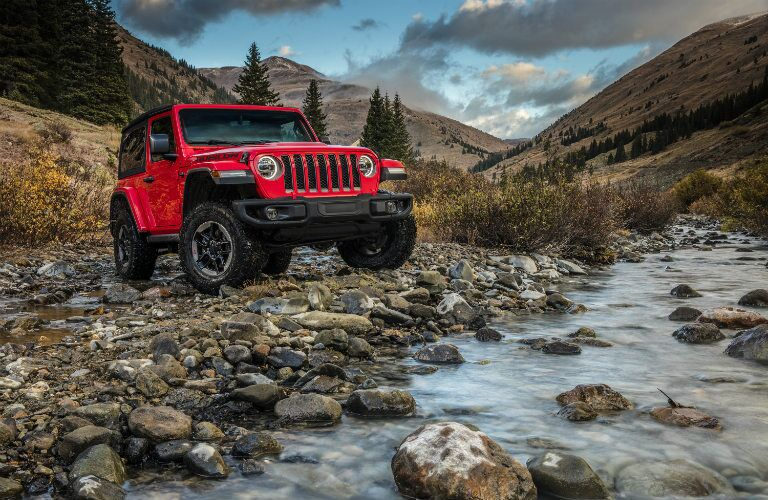 2018 Jeep Wrangler front exterior red