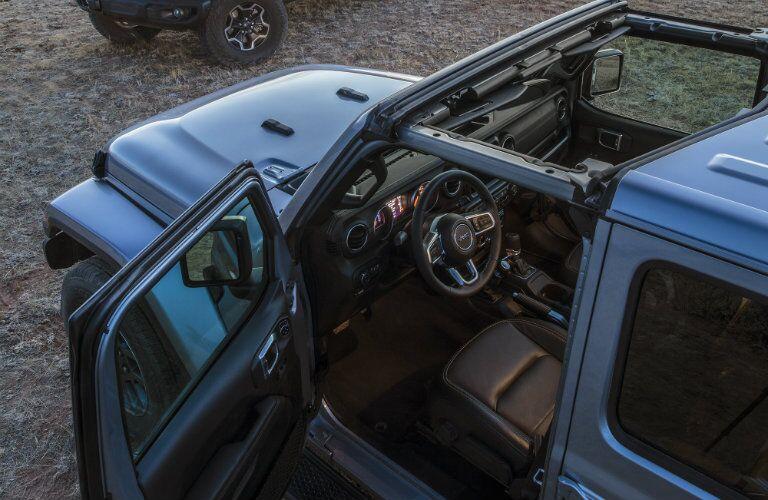 2020 Jeep Gladiator blue front seat door open