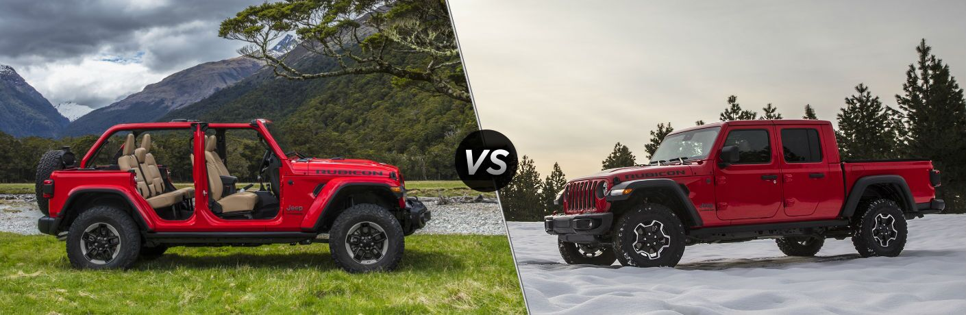 2020 Jeep Gladiator vs 2019 Jeep Wrangler