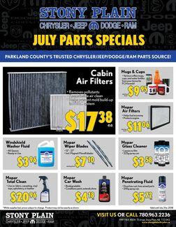 July Parts Specials
