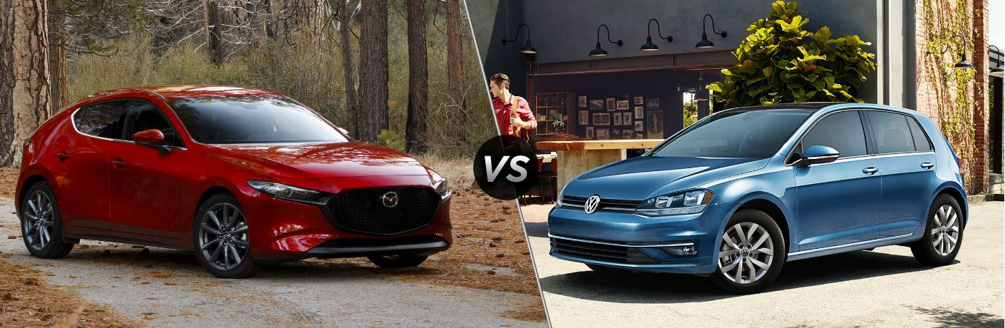 2019 Mazda3 Hatchback vs 2019 Volkswagen Golf