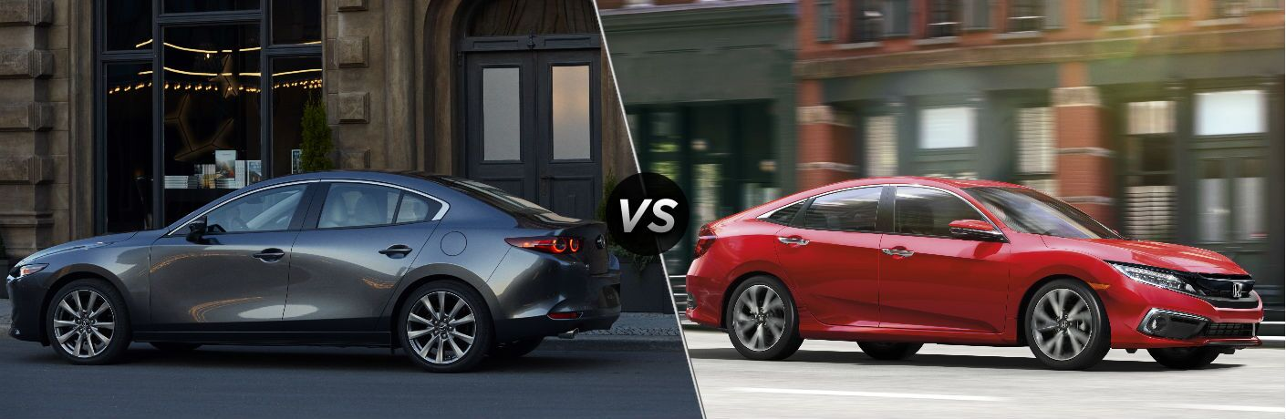 2019 Mazda3 Sedan vs 2019 Honda Civic Sedan
