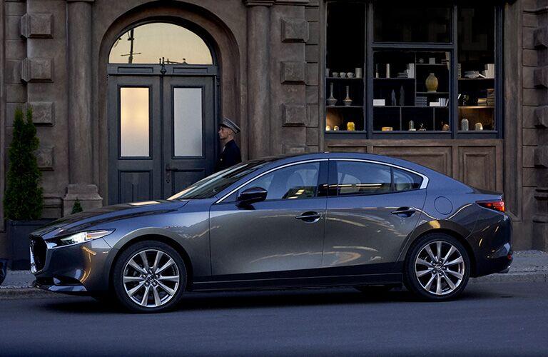 2020 Mazda3 sedan in gray