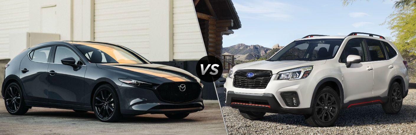2020 Mazda3 Hatchback vs 2020 Subaru Forester