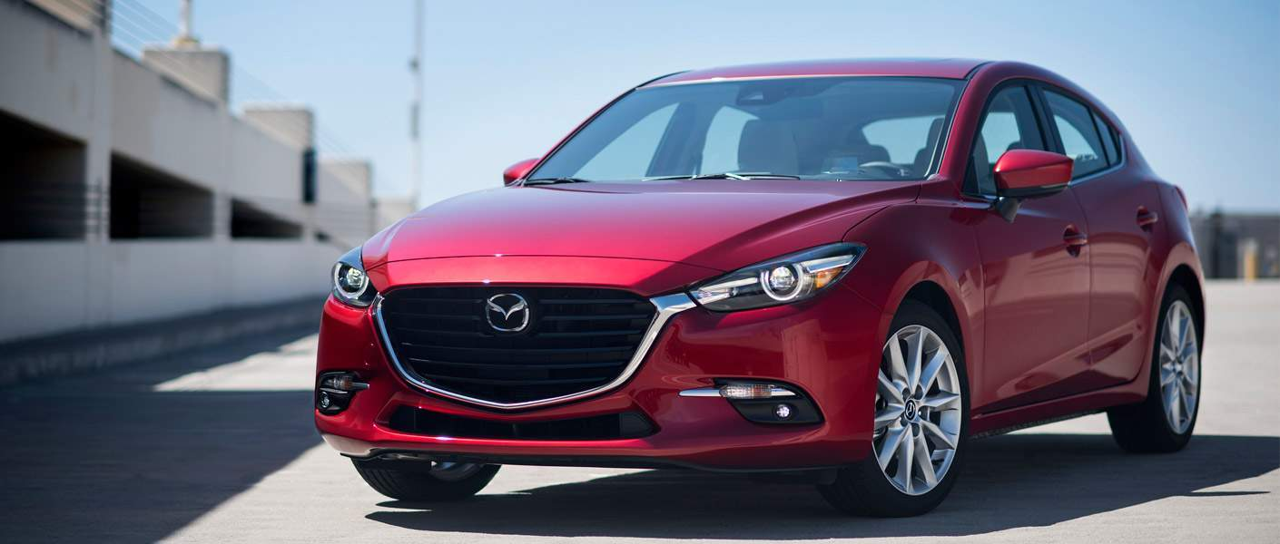 2017 Mazda Mazda3 sedan red full view