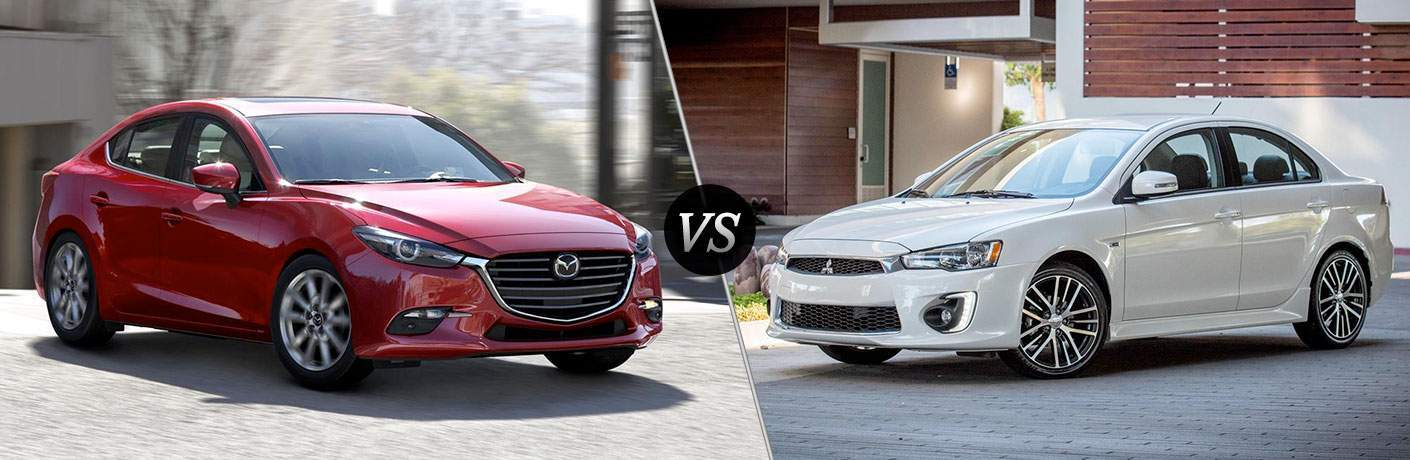 2017 Mazda3 vs 2017 Mitsubishi Lancer