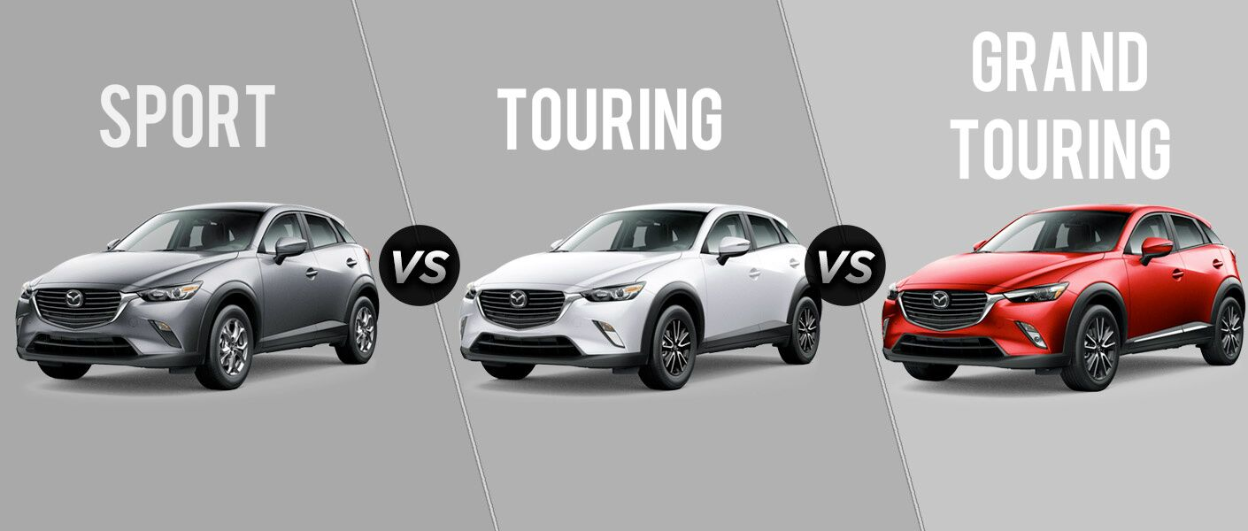 2017 Mazda CX-3 Sport vs Touring vs Grand Touring