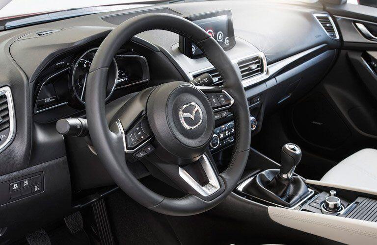 2017 Mazda Mazda3 steering wheel mounted controls