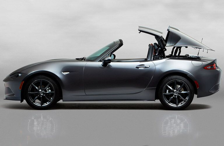 2017 Mazda MX-5 Miata RF stages of putting top down