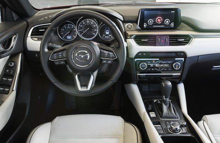 new steering wheel design in the 2017 mazda6