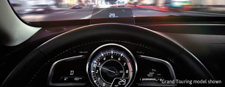 2017 mazda cx-3 with active driving display
