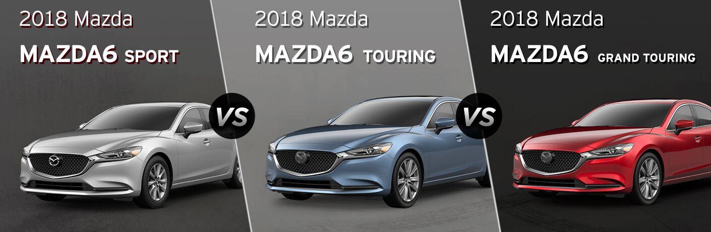 2018 Mazda6 Sport Vs 2018 Mazda6 Touring Vs 2018 Mazda6 Grand Touring