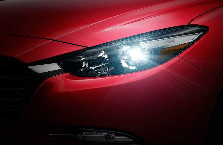 2018 Mazda3 headlight in red